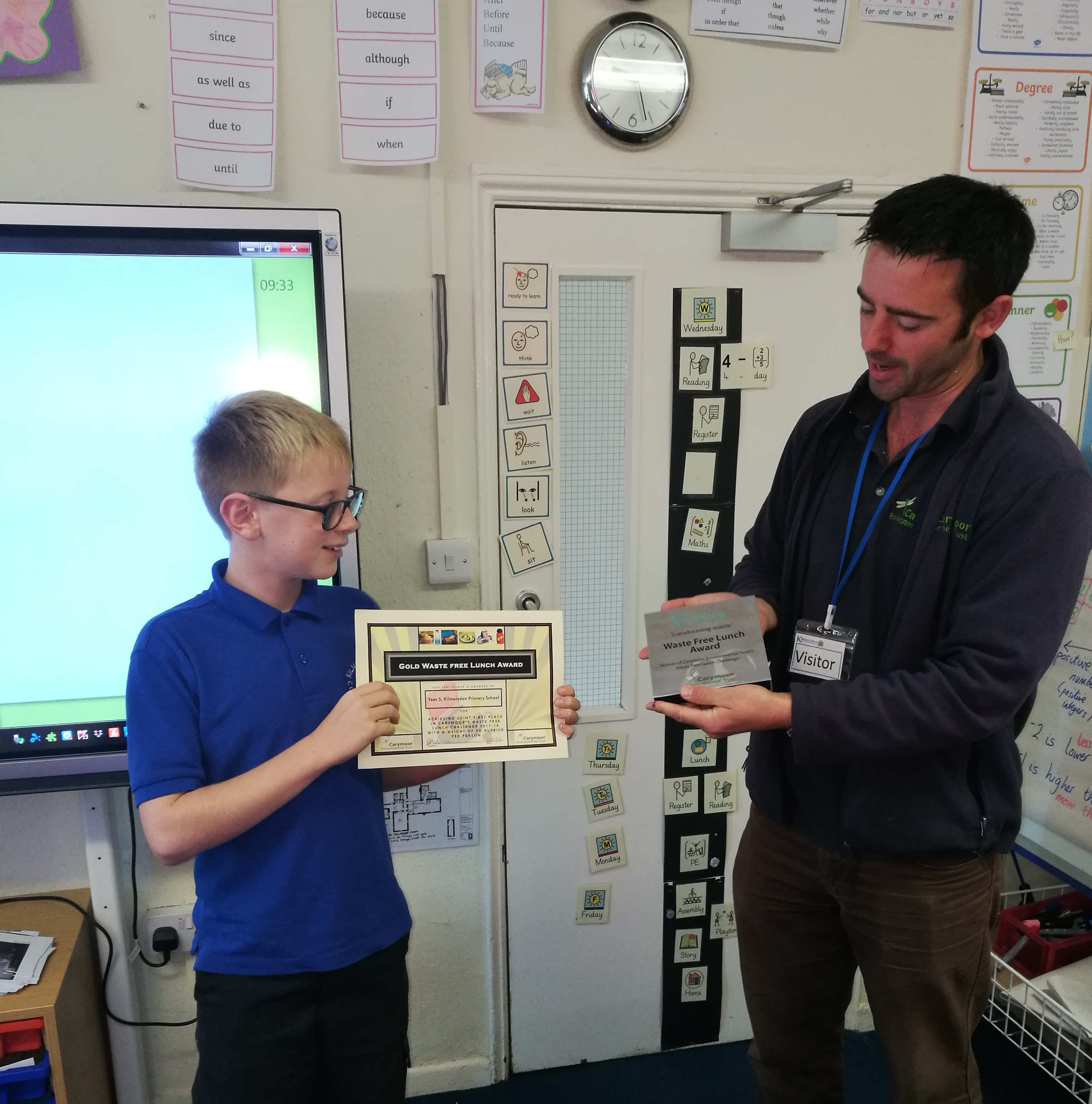 Waste Free Lunch Trophy Goes to Kilmersdon Primary
